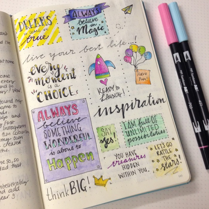 Bullet Journal Quotes Layout