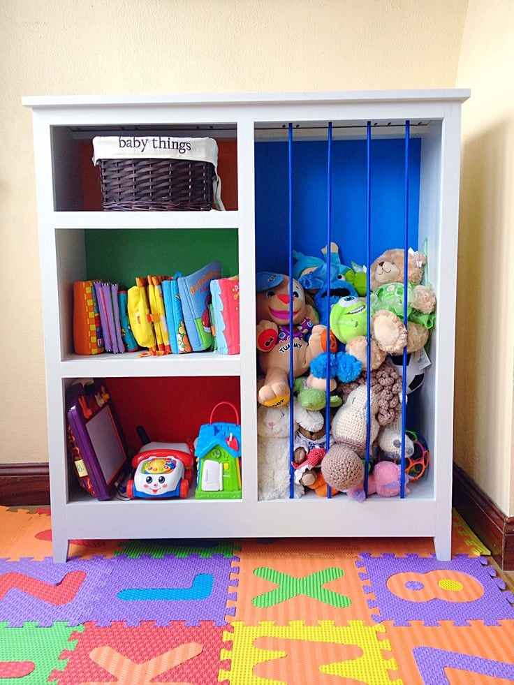 From Bookcase to Toy Storage
