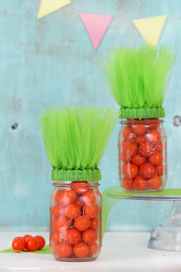 Carrot Inspired Mason Jars