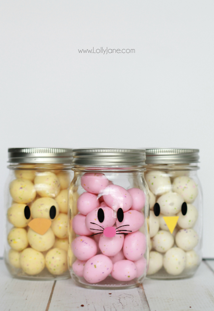 Easter Mason Jar Favors