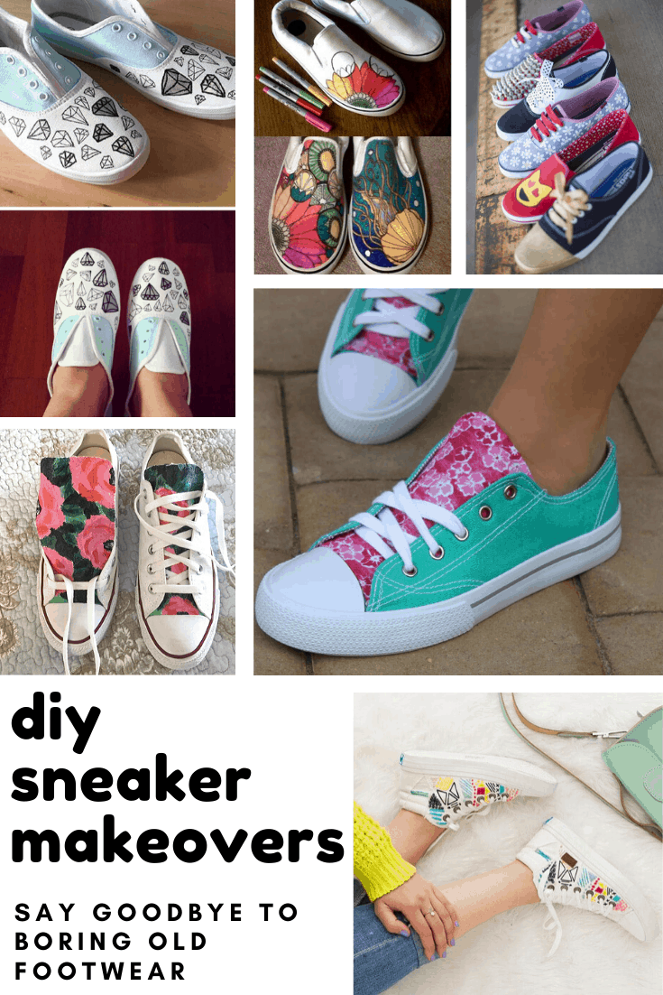 These easy DIY sneaker makeovers are the perfect back to school project