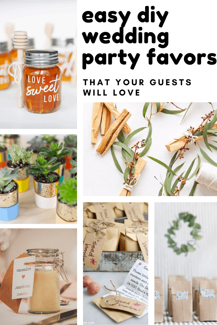 These easy DIY wedding party favors are easy to make and are sure to be a huge hit with your guests!