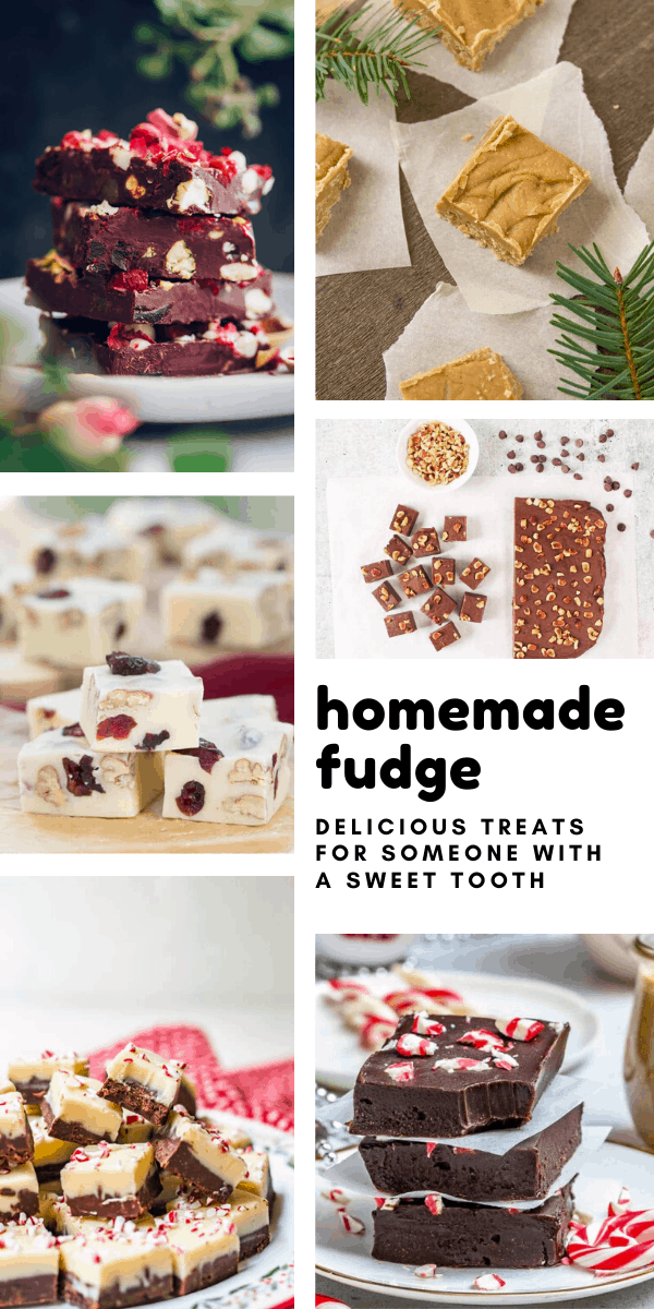 These easy homemade fudge recipes make wonderful edible gifts for any occasion - but especially for Christmas!