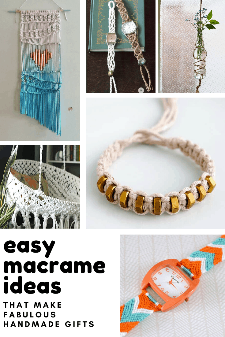 These easy macrame projects are gorgeous and would make really thoughtful handmade gifts!