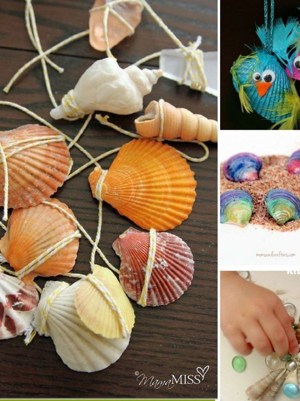 easy seashell crafts for kids