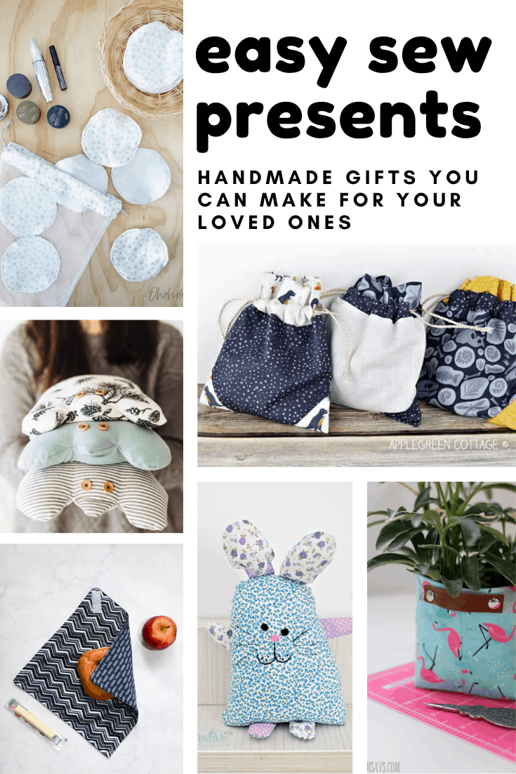 So many fabulous easy sew presents - and step by step tutorials so I can see how to make them!