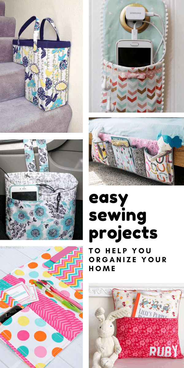 Loving these easy sewing projects to help me get my home organized!