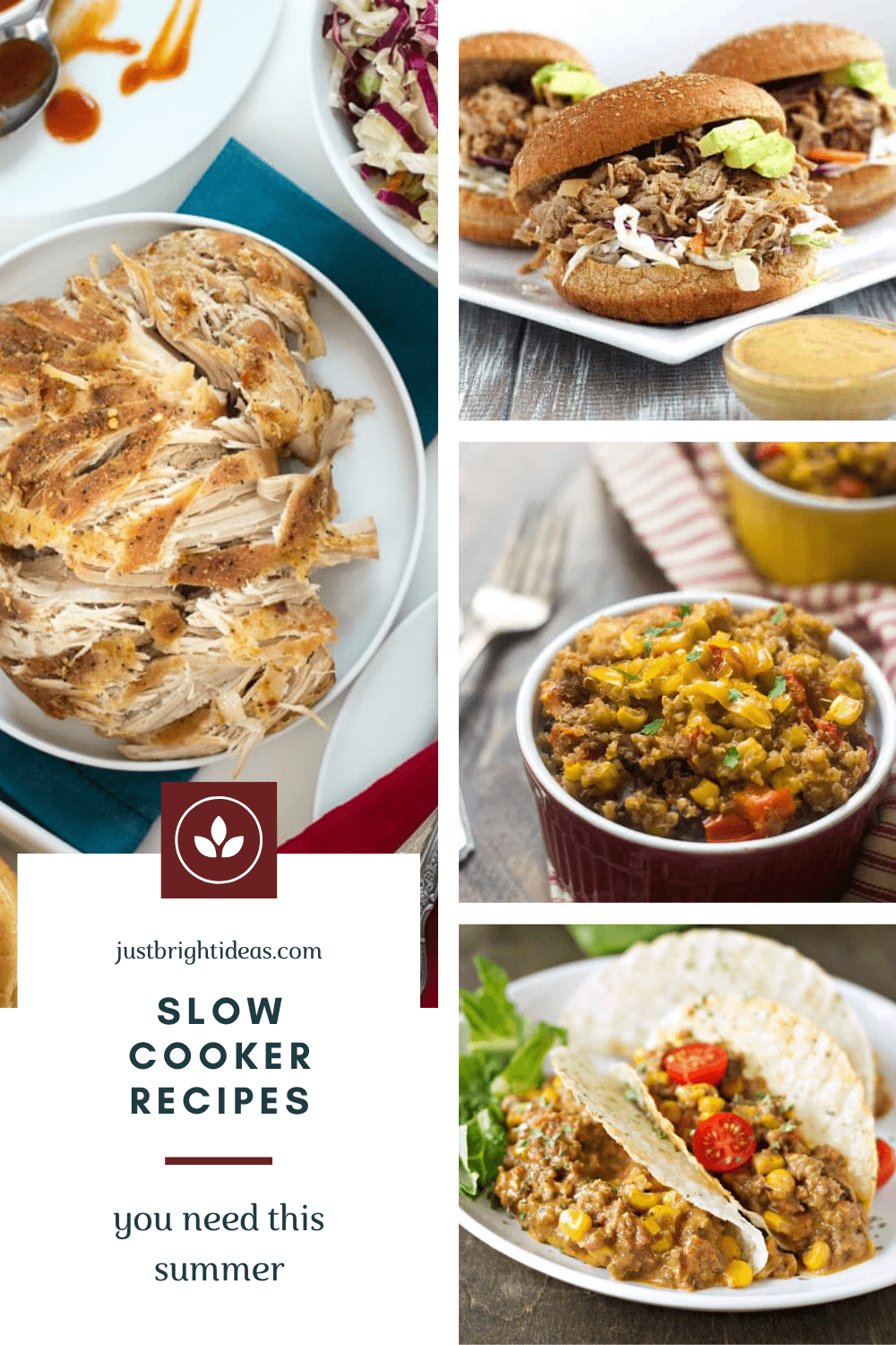 These summer slow cooker recipes are easy to make and perfect for when it's just too hot outside to be in the kitchen making dinner!
