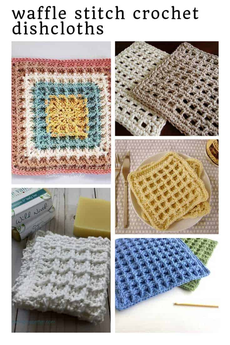 Loving these easy waffle stitch crochet dishcloth patterns!