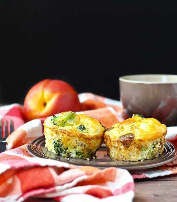 Turkey Sausage and Broccoli Egg White Frittata Muffins