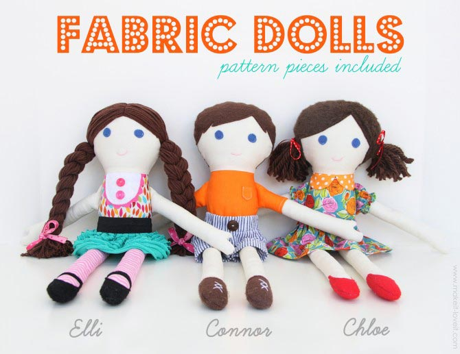 Fabric dolls from Make it Love it