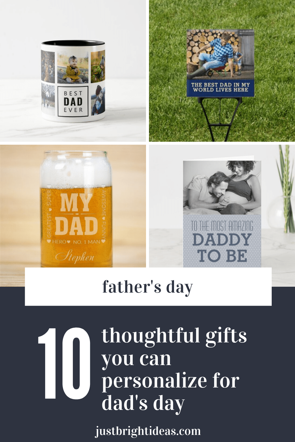These unique Father's Day gifts can be personalized with photos or names to make them extra special for dad