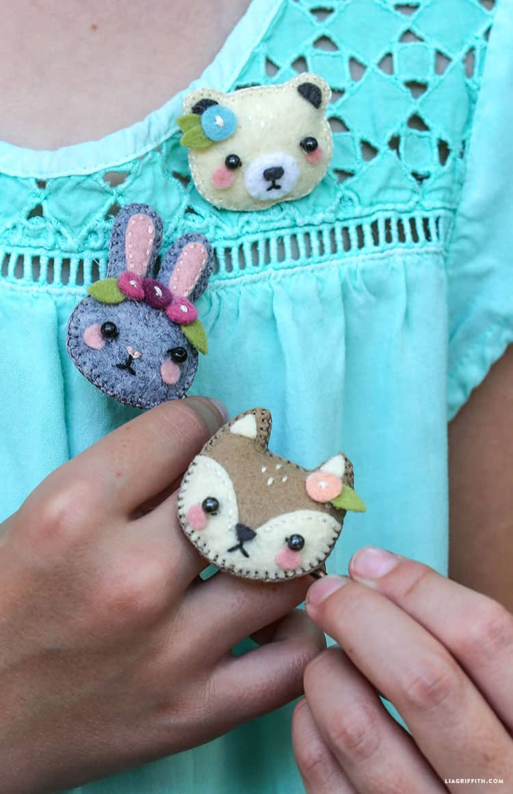 Mini Felt Animal Hair Accessories