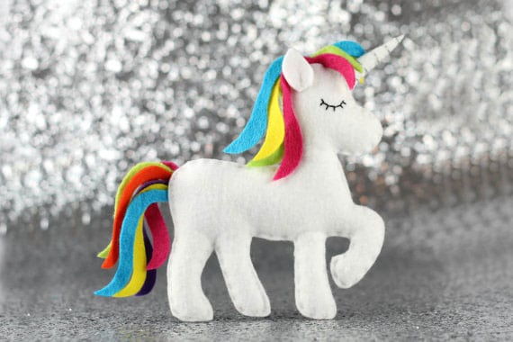 Unicorn Felt Sewing Pattern