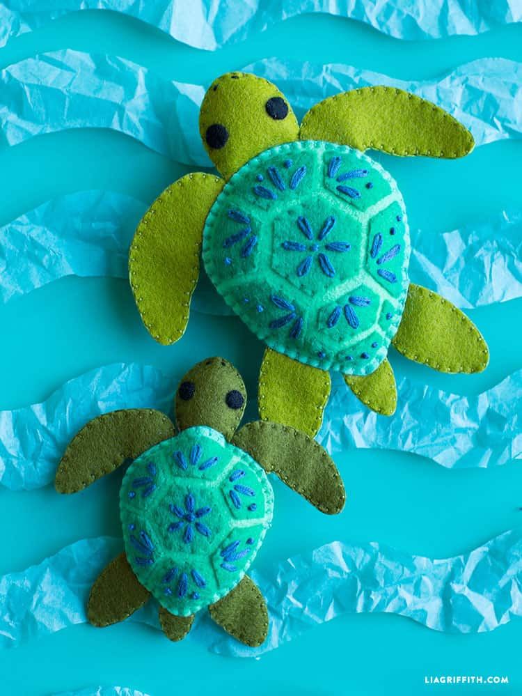Felt Turtle Stuffie