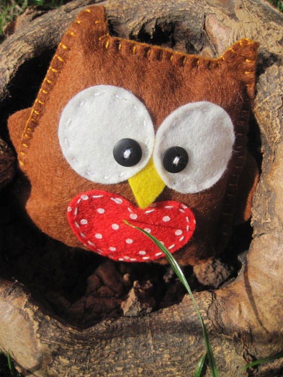 Happy Felt Owl Sewing Kit