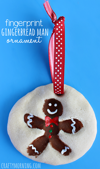 This fingerprint gingerbread ornament is ADORABLE and grandma is going to love it!