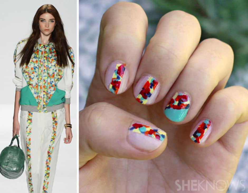 Rebecca Minkoff Inspired Floral Nails