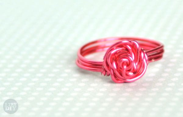 DIY Rose Shaped Wire Ring