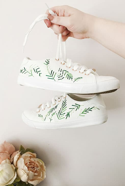 Embroidered Palm Lead Trainers
