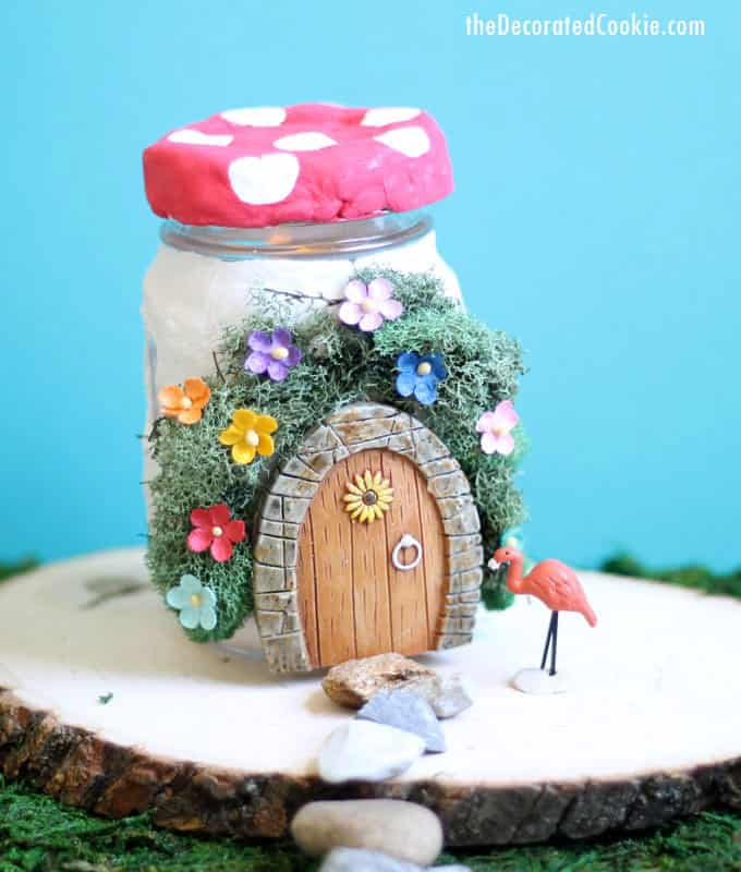 Mason Jar Fairy House