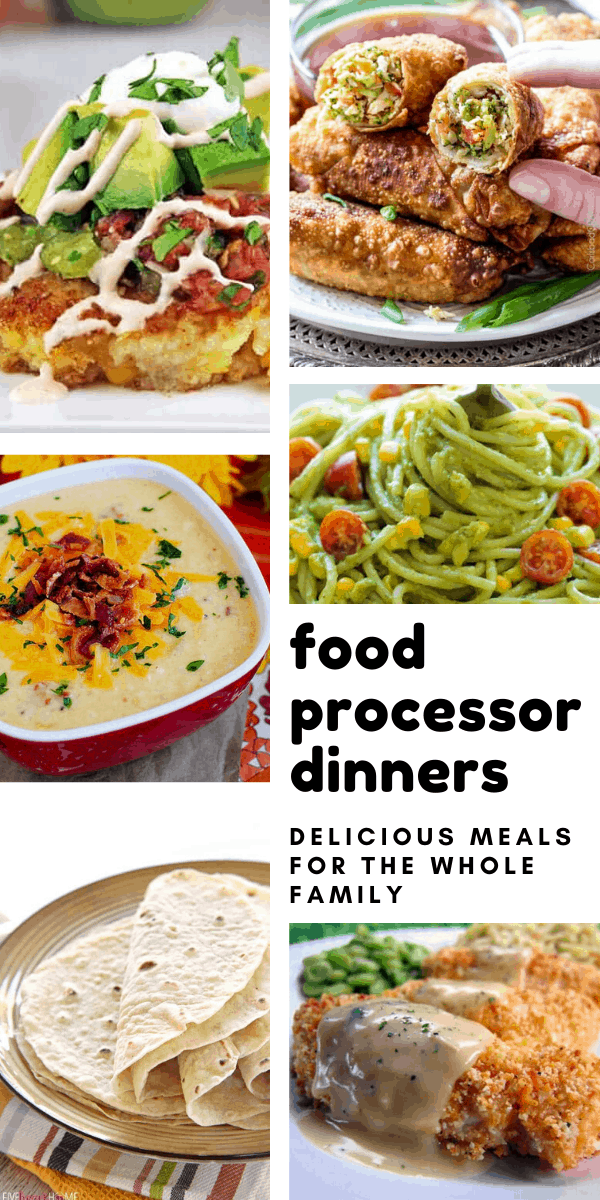 I had no idea I could use my food processor to make so many dinner recipes!