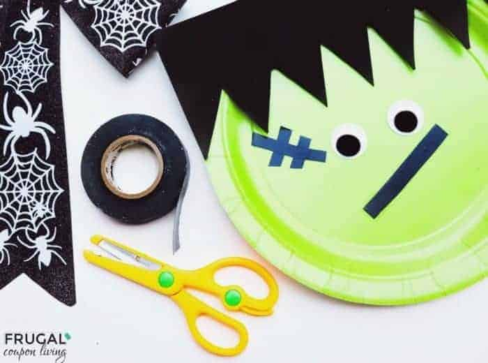 Frankenstein's Monster Paper Plate Craft