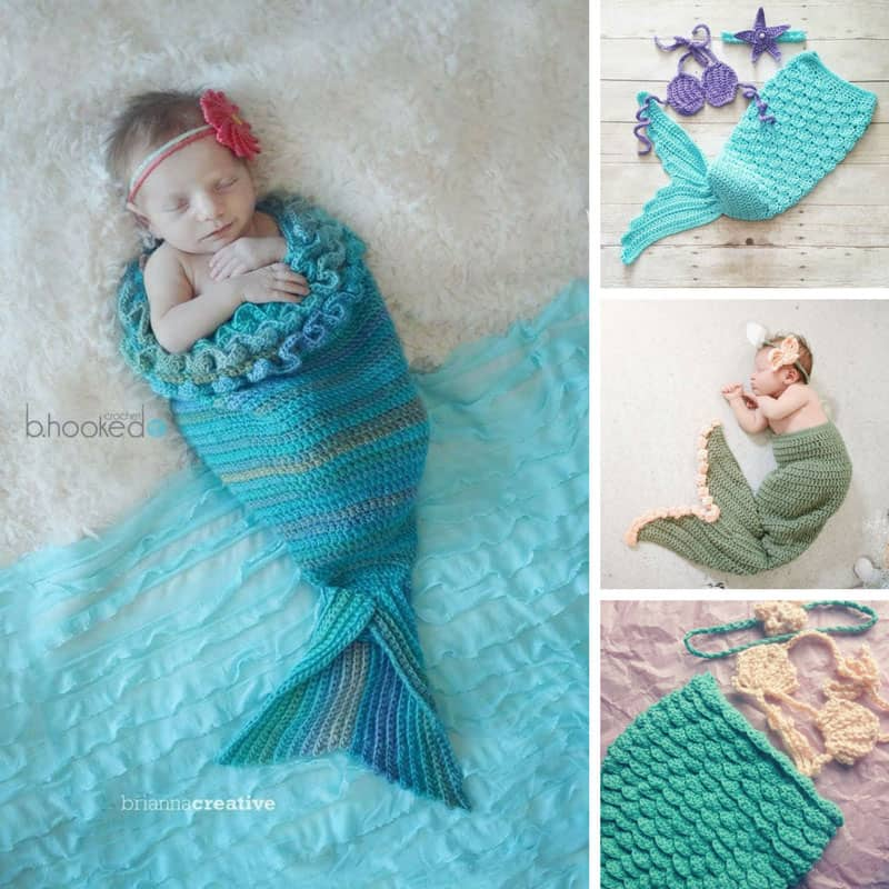 free newborn baby mermaid tail crochet pattern