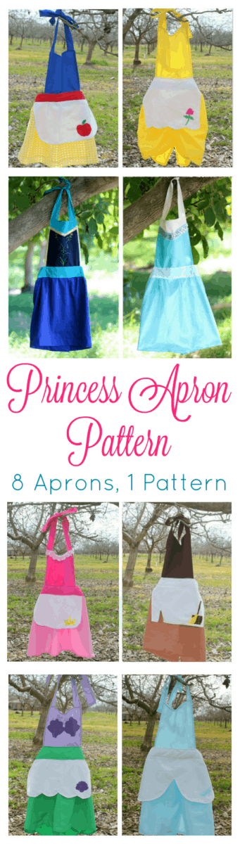 Disney Inspired Princess Dress Aprons