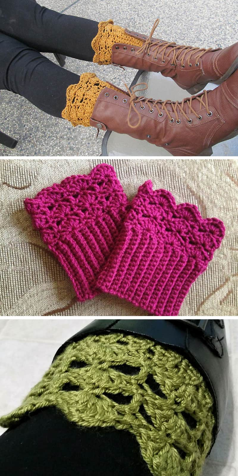 Free Boot Cuffs Crochet Pattern Belmont Boot Toppers