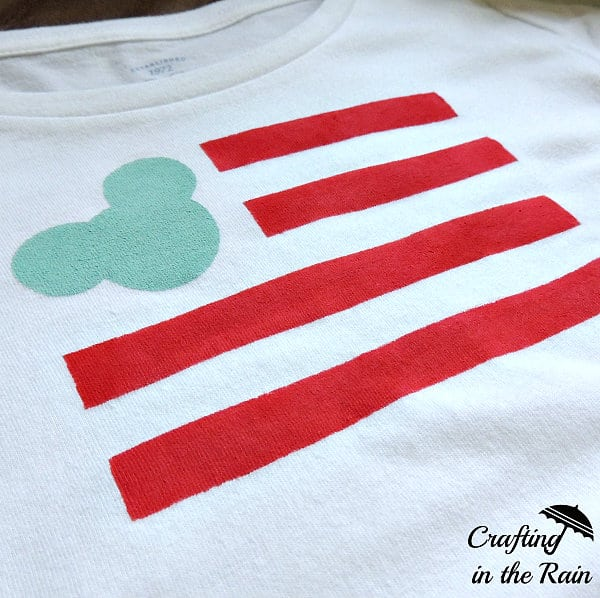 DIY Mickey Flag Shirt