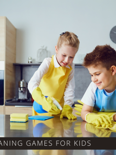 Fun cleaning games for kids to play - get them to do their chores without complaining!