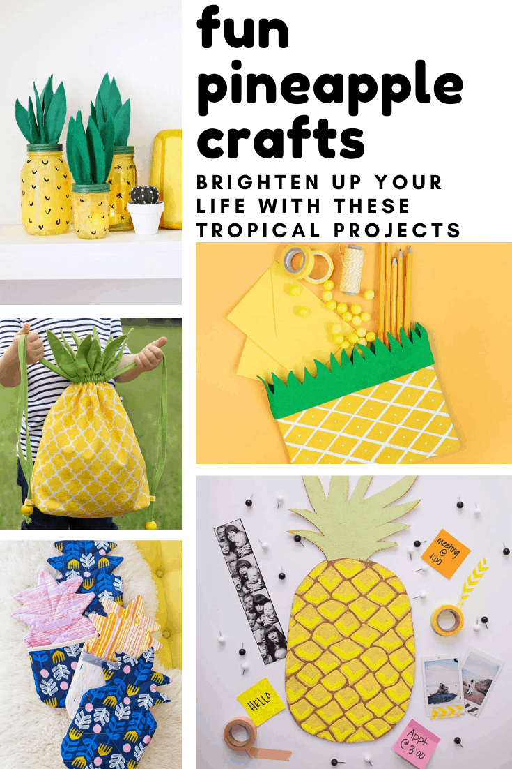 Loving these fun pineapple crafts - so many ways to bring a touch of the tropics to your day!