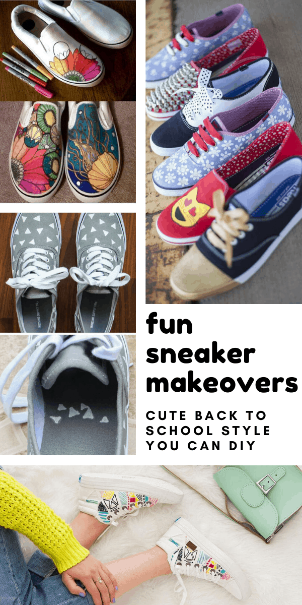 These super fun sneaker makeovers are the perfect way to breath new life into boring footwear