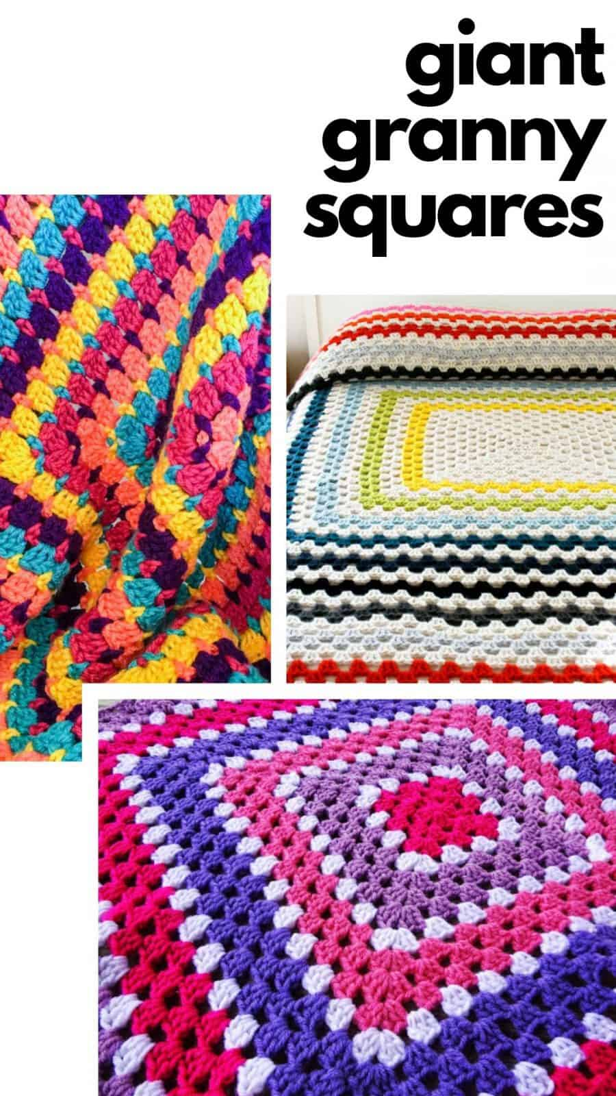These giant granny squares are gorgeous and work for baby blankets right through to throws!