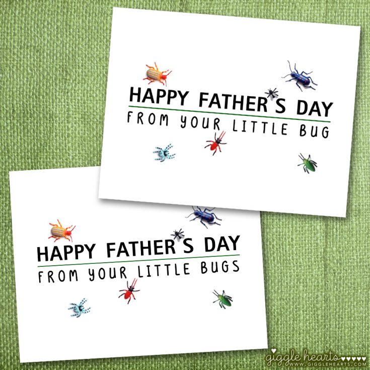 "Free Printable ""Little Bug"" Father's Day Cards"