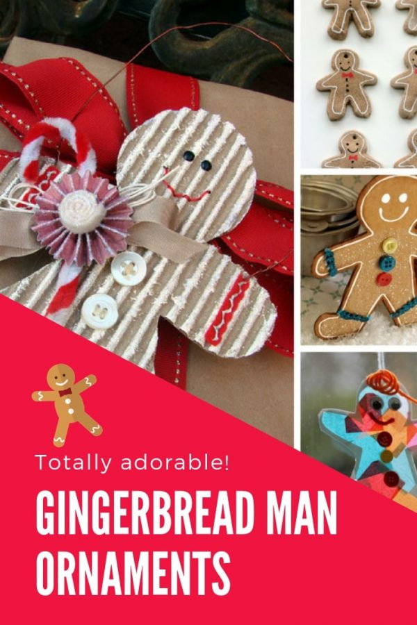 These gingerbread man ornaments are so CUTE and the kids will have a blast making them this Holiday season!