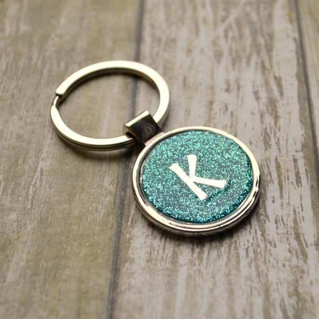 Glitter Keychains with Monograms