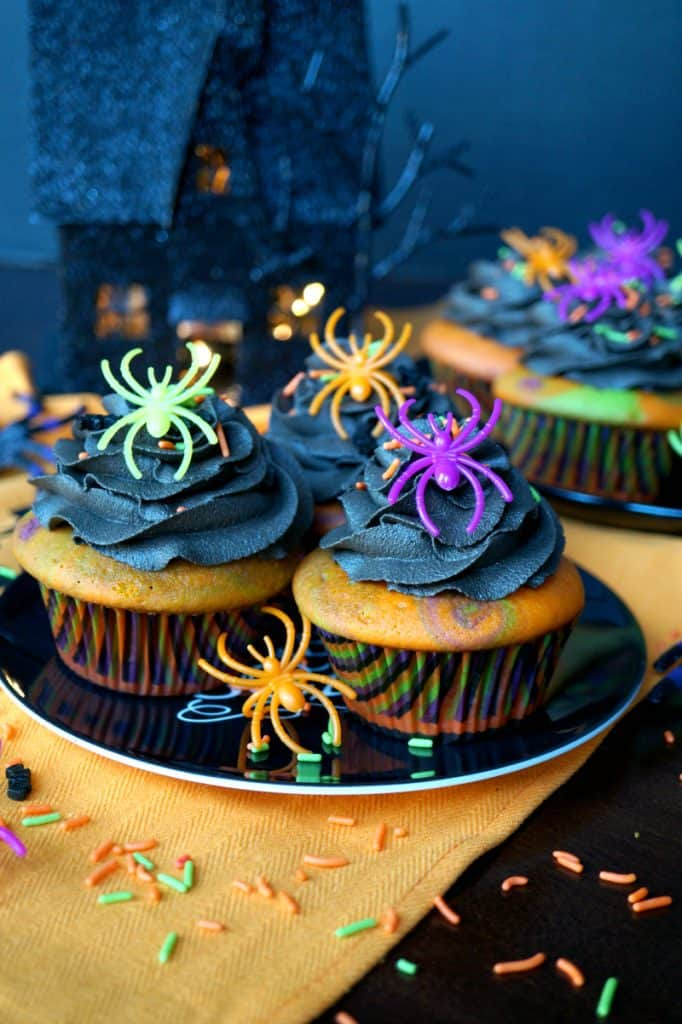 Halloween Marble Cupcakes