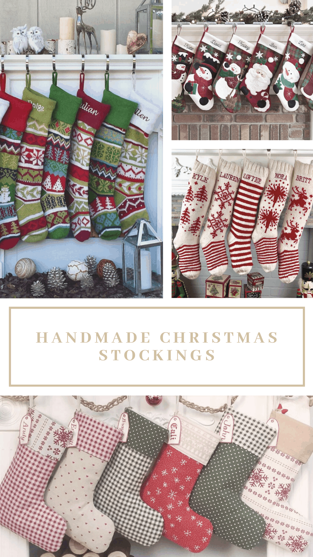 Wow - these handmade Christmas stockings are just beautiful - and I love that you can customize them with people's names so Santa knows whose is whose!