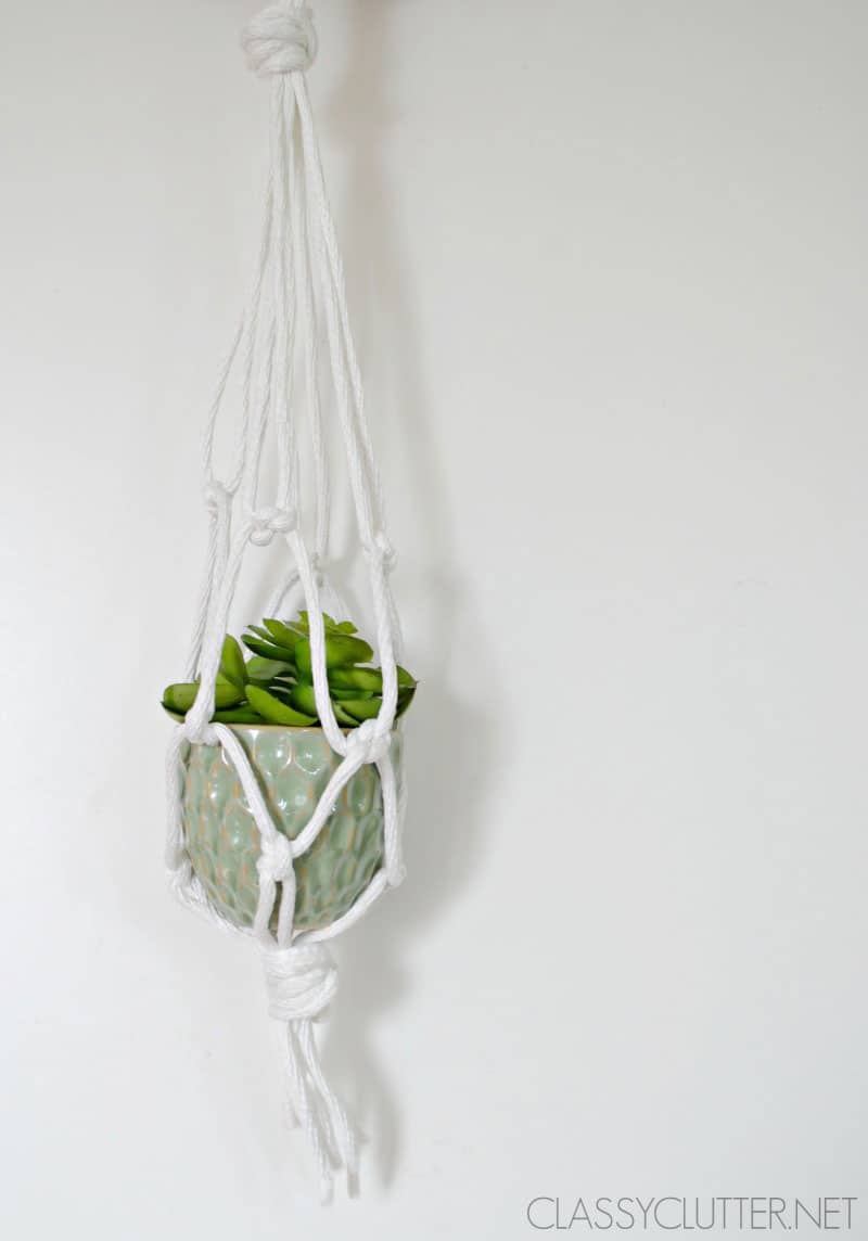 DIY Macramé Hanging Planter