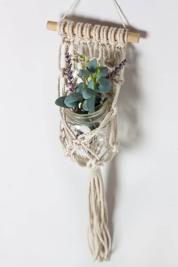 DIY Hanging Macrame Planter