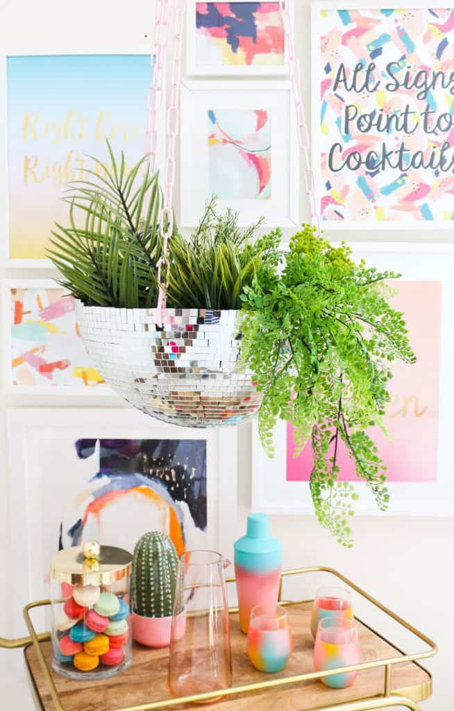 Make Your Own Disco Ball Hanging Planter