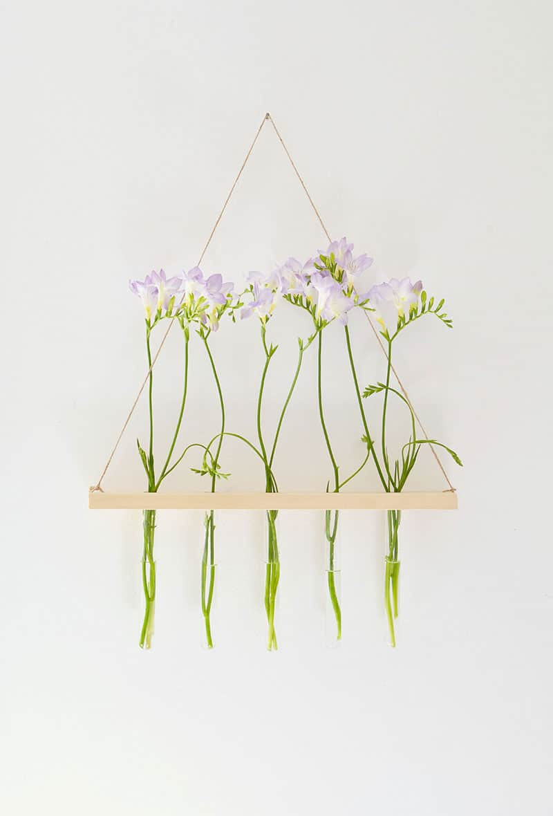 DIY Hanging Flower Display