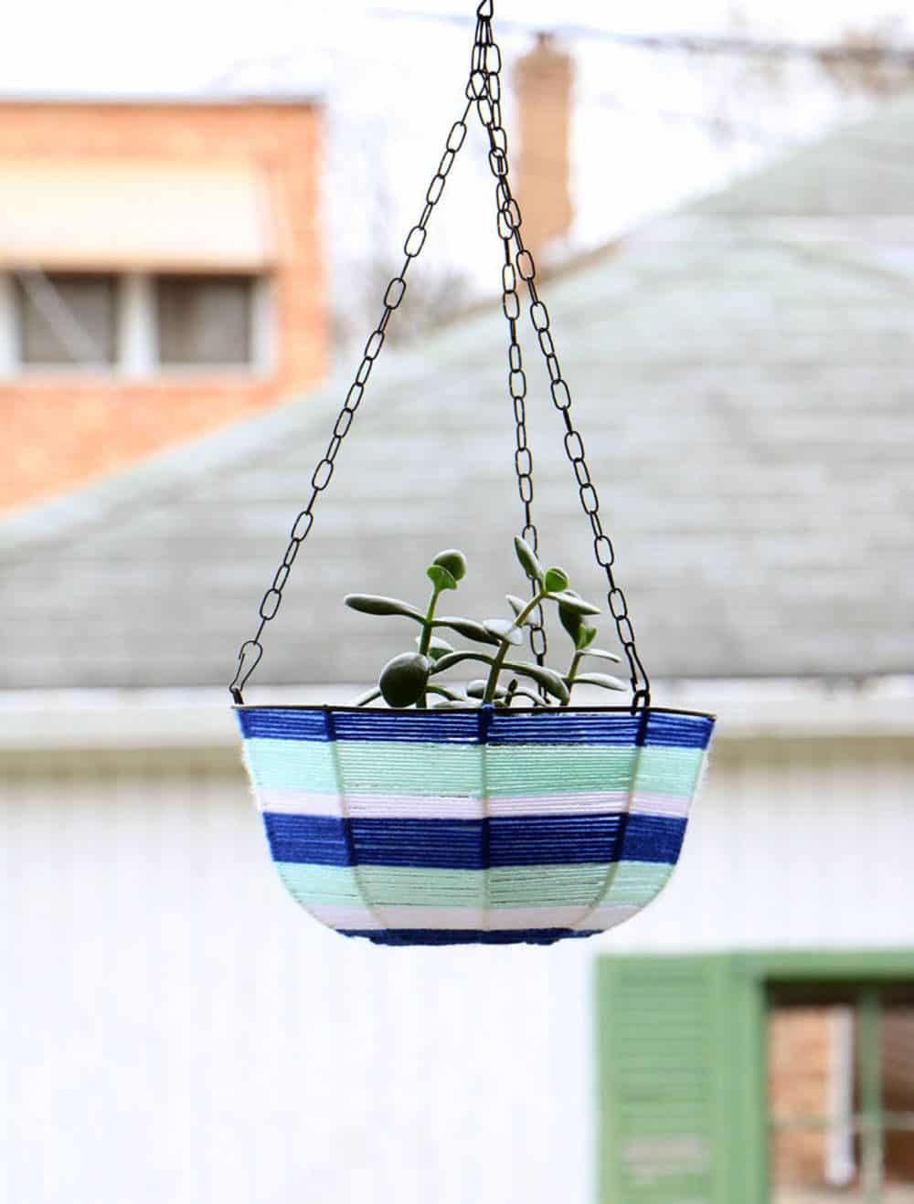 Dollar Store Hanging Planter Makeover