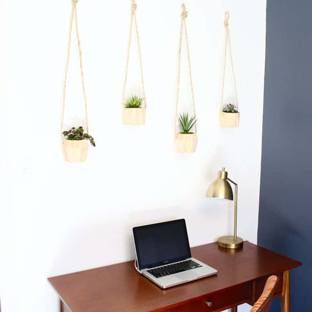 Hanging Wooden Planters