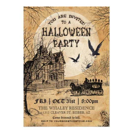 You can buy the Haunted House Halloween Party Invitation here