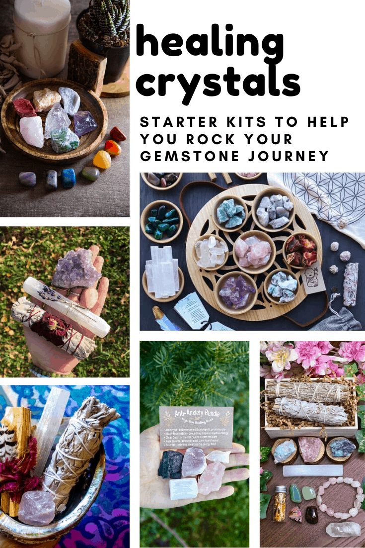 So many great starter kits for learning how to incorporate healing crystals into your self care routine