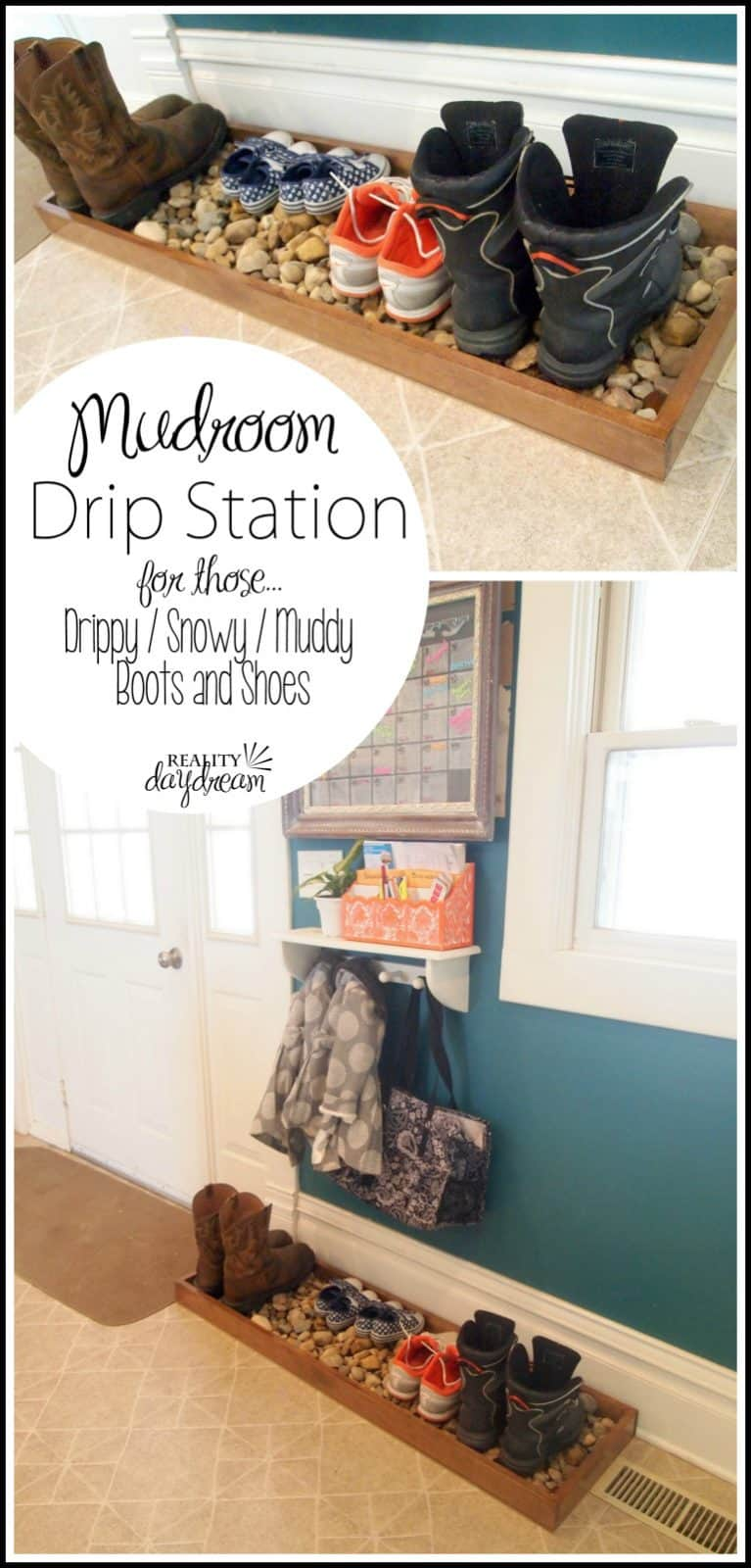 DIY Mudroom Drip Station