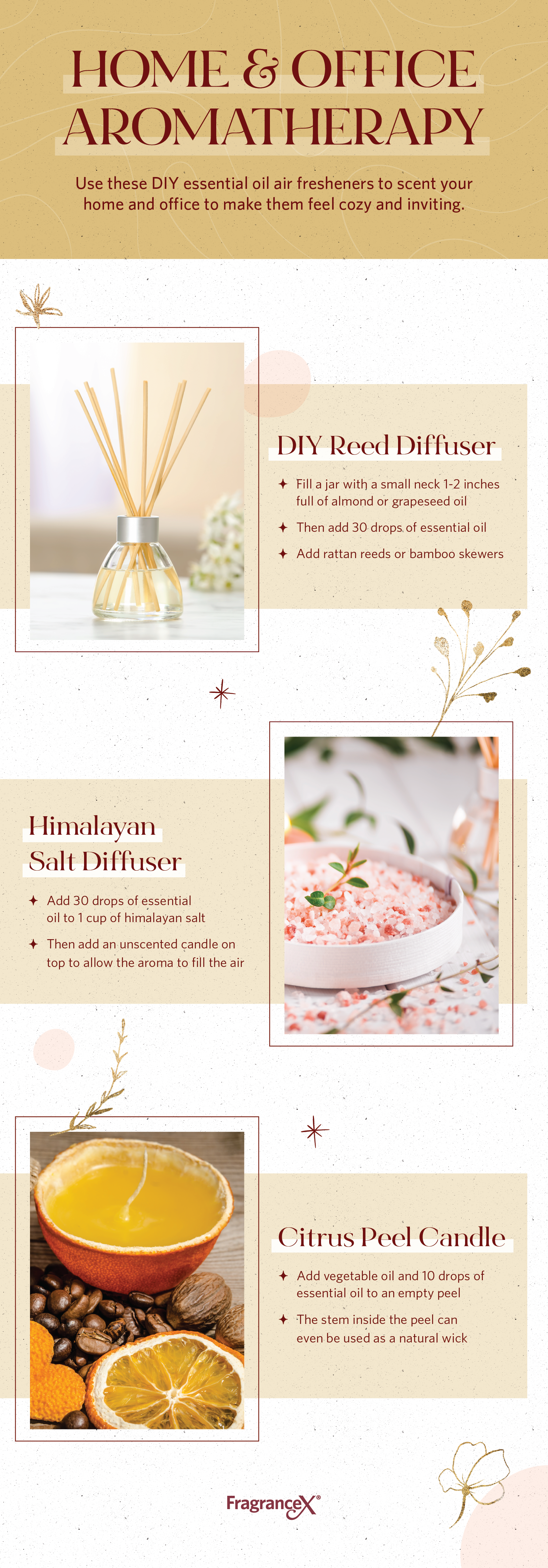 Use these DIY essential oil air freshener recipes to make your home and office feel cozy and inviting